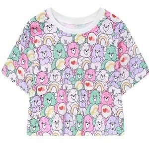 NEW✨ Care Bears Teddy Collage Cropped Tee Shirt